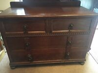 Solid Oak Chest of Drawers - CAN DELIVER