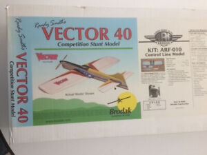 New Vector 40 control-line model aircraft kit