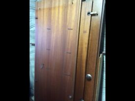 Beautiful real wood double wardrobe