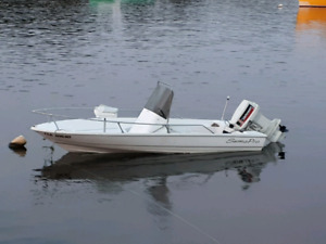 2000 15.5ft.Profisher..1987 Johnson 50hp.Trade for 4x4 ATV.