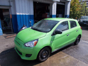 2015 MITSUBISHI MIRAGE ONLY 46.000 KM SAFETY +7 YEARS  WARRANTY