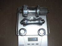 Shimano 105 front and rear wheel hubs smooth excellent condition