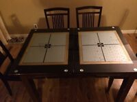 Dining room table with six chairs for sale