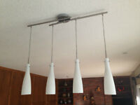 White and Pewter, Pendant Light fixture-kitchen, island