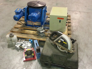 welding positioner, mag drill cutters, c-frame punch, steel saw
