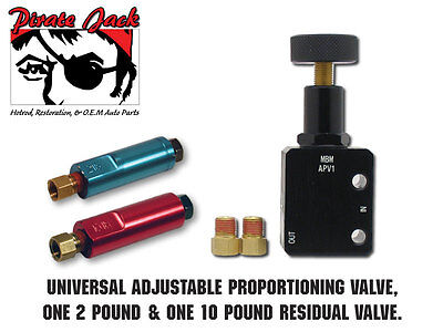 Adjustable Proportioning Valve With 2lb & 10lb Residual Valve Kit Disc/Drum