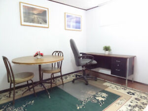LARGE BACHELOR FURNISHED RENOVATED BASEMENT UNIT with PRIVATE KI