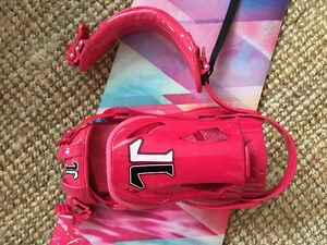 Technine T9 Women's Snowboard BINDINGS ONLY  (DARK PINK)