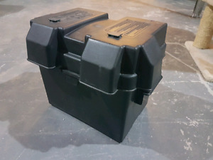 Rv battery and Noco snap top battery box