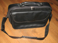 UMAX black leather laptop carry case, $10 or best offer
