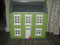 Large WOODEN DOLL HOUSE in New Condition  Like Pottery Barn Kids
