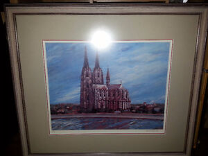 Painting of Cologne Cathedral Strathcona County Edmonton Area image 1