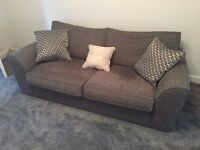 Barker & Stonehouse Charcoal 3 Seater Sofa and Chair