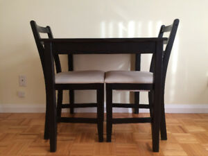 IKEA LERHAMN TABLE SET - One table and two chairs