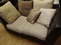 2 PLACE MOCHA COUCH LOVESEAT AND COFFEE TABLE