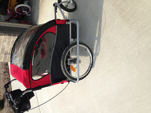 3in1 Double Baby bike trailer/jogger