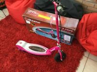 Razor Electric Scooter E100 Pink Excellent Condition with Box