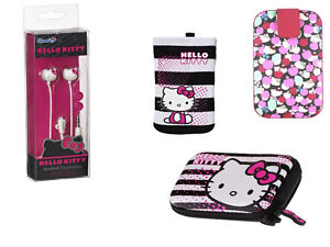 4 Pack Hello Kitty Accessories Bundle Earphones Camera Case MP3 Sock And Case