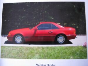 1990 MERCEDES BENZ 500SL TWO TONE RED WITH BLACK LEATHER