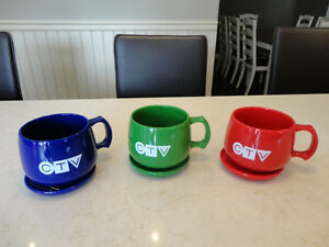 Vintage CTV Television Cup & Saucer -Made from Natural Corn USA