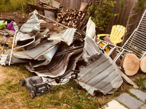Scrap metal and the lawn mower for Free