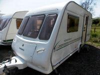 Compass Omega 460/2 2002 2 Berth Touring Caravan Large End Washroom