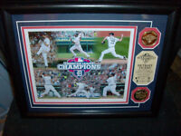 DETROIT TIGERS FRAMED MATTED PICTURE 2012 WITH TWO COINS