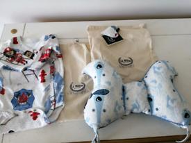 Baby gift set of stroller cushion & baby vest