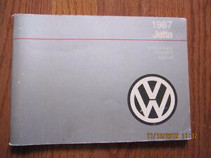 1987 VW Jetta Owners Manual
