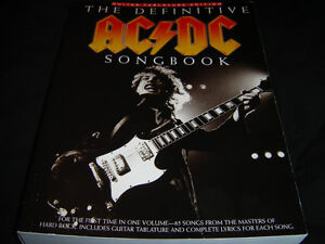 THE DEFINITIVE AC/DC SONGBOOK BRAND NEW NEVER TOUCHED 800 PAGES London Ontario image 2