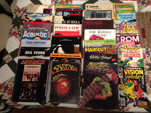 20 music books, 9 old comics and 2 photography books