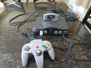 Complete Nintendo 64 for sale. Tested and Working.