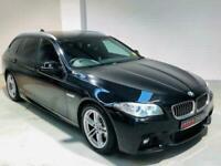 BMW 5 SERIES 520D M SPORT TOURING NAV AUTO 2014 BLACK ESTATE DIESEL F11 F10 LCI