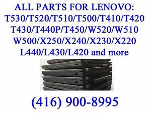 All parts for Lenovo T530/T520/T510/T500/T410/T420/T430/T440P/T450/W520/W510/W500/X250/X240/X230/X220/L440/L430/L420