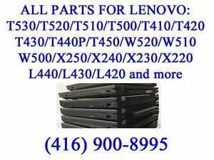 All parts for Lenovo T530/T520/T510/T500/T410/T420/T430/T440P/T450/W520/W510/W500/X250/X240/X230/X220/L440/L430/L420