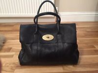 Classic Black Natural Mulberry Bayswater Good Condition Genuine Mulberry