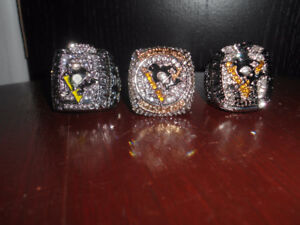 SIDNEY CROSBY 3 CHAMPIONSHIP REPLICA RING PENGUINS