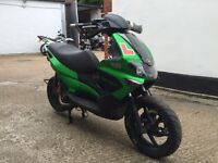 2009 Gilera Runner 125cc with 200cc motor. Lots of custom work. Starts and runs needs carb work.