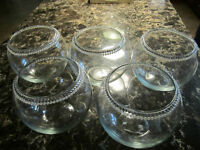 10 Wedding Centrepieces - Glass (make good fish bowl) with bling