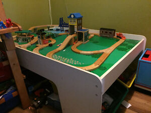 Thomas the Train play table with trains