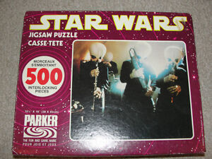 Vintage Star Wars Cantina Band Puzzle 1977 Sealed