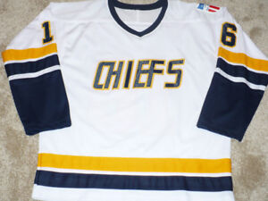 Slap Shot Charlestown CHIEFS Dave Hanson signed Jersey Large