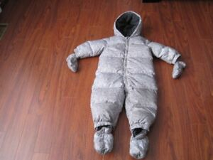Gap Baby Boy Snowsuit  Grey   18- 24 months