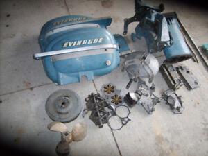 """1952 EVINRUDE 25 hp"""" BIG TWIN"""" PARTS"""