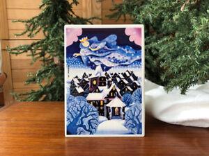 Villeroy & Boch - Vintage Porcelain Christmas Card  SILENT NIGHT
