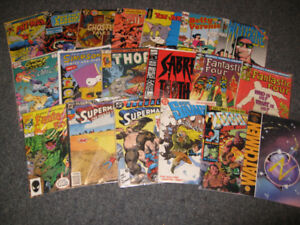 large assortment of comic books