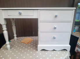 Painted solid pine desk