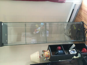 Glass 4 shelf cabinet