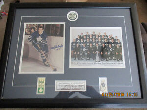 40th anniversary '67 Stanley cup champions Maple Leafs framed