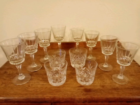Collection Of Vintage Crystal Glassware